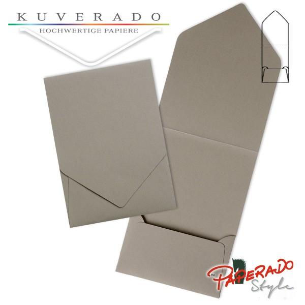 PAPERADO Style - Aufklappkarte in taupe grau