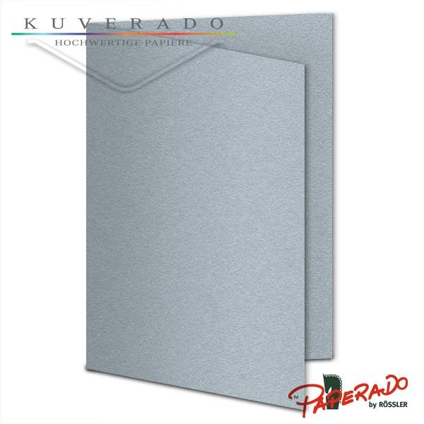 Paperado Karten in silber DIN B6