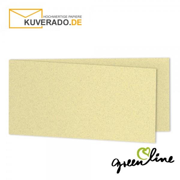 ARTOZ Greenline pastell | Recycling Faltkarten in misty-yellow DIN lang