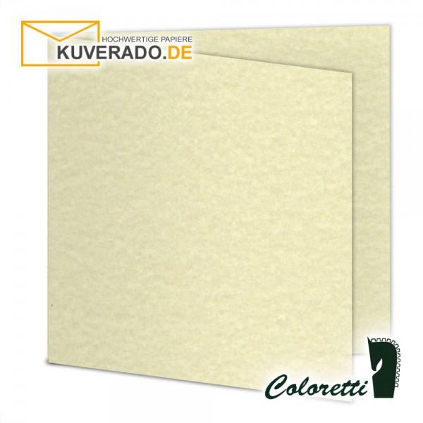 Sandgelb marmorierte Doppelkarten in quadratisch 220 g/qm von Coloretti