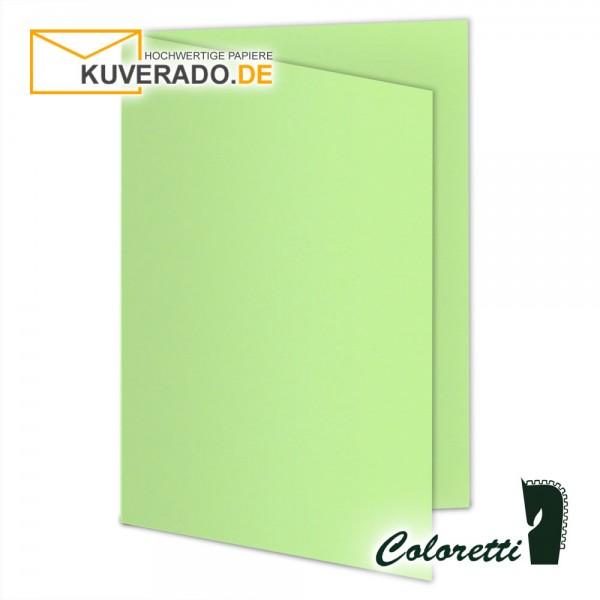 Grüne Doppelkarten in peppermint 220 g/qm von Coloretti