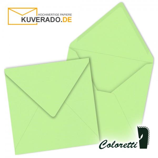 Grüne Briefumschläge in peppermint quadratisch von Coloretti