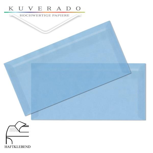 transparente Briefumschläge DIN lang in himmelblau