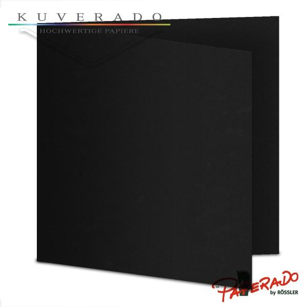 Paperado Karten in schwarz quadratisch