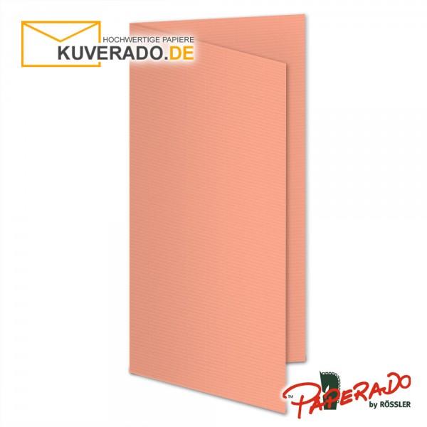 Paperado Faltarten in coral DIN lang Hochformat