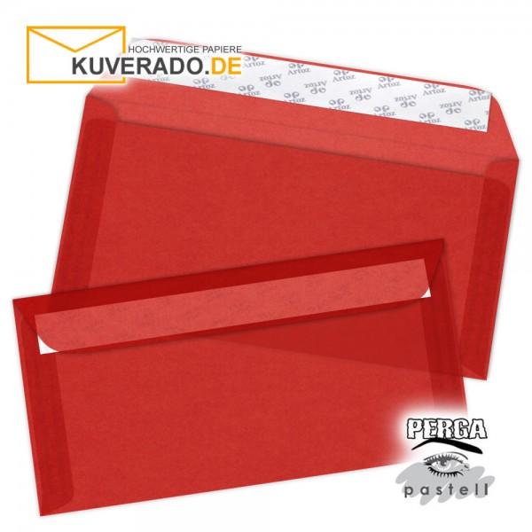 Artoz transparente Briefumschläge rot 114x224 mm