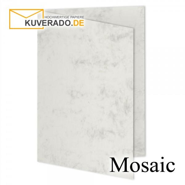 Artoz Mosaic marmorierte Faltkarten in grau DIN B6