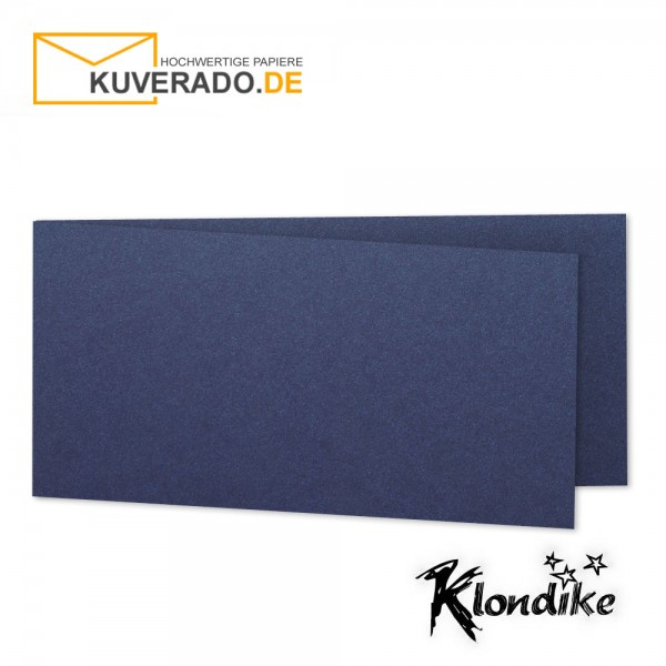 Artoz Klondike Karten in saphir-blau-metallic DIN A6