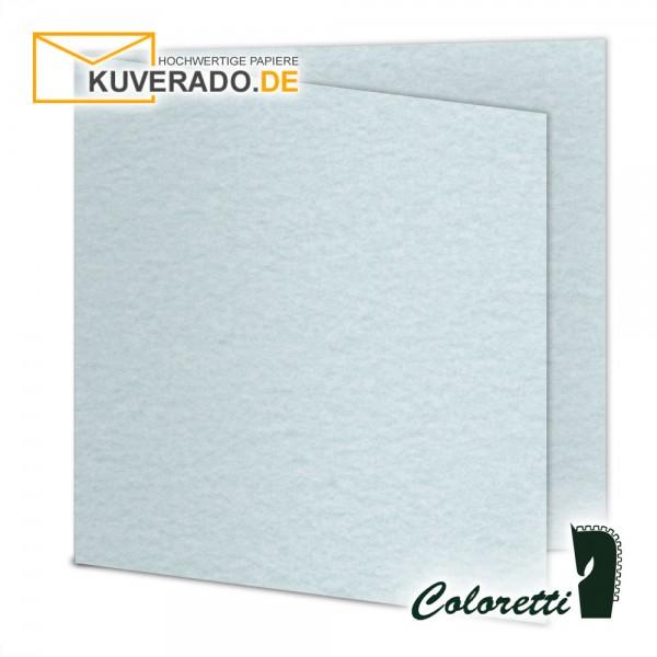 Aquablau marmorierte Doppelkarten in quadratisch 220 g/qm von Coloretti