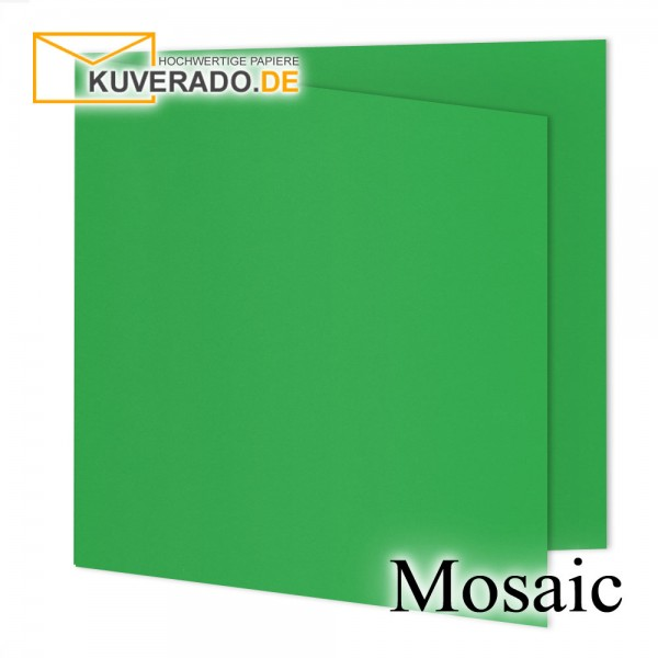 Artoz Mosaic apfelgrün Doppelkarten quadratisch