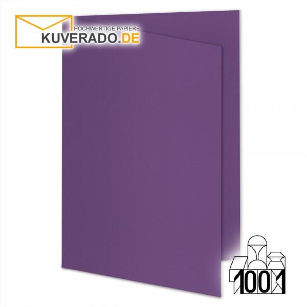 Artoz Doppelkarten violett DIN A6 mit Wasserzeichen