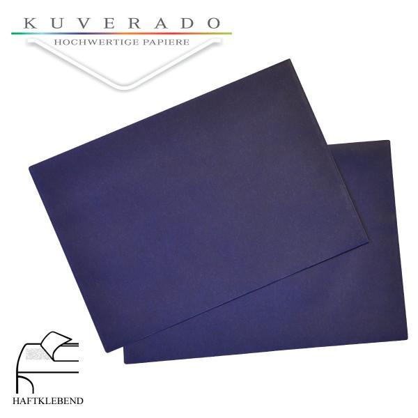 transparente Briefumschläge DIN C6 in dunkelblau