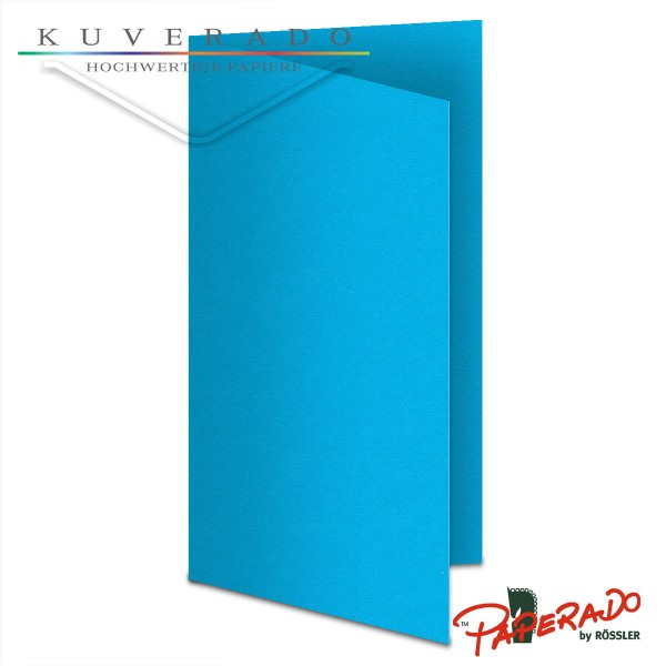 Paperado Karten in pacifik blau DIN lang