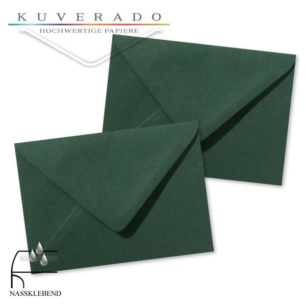 grüne Briefumschläge im Format 110 x 156 mm