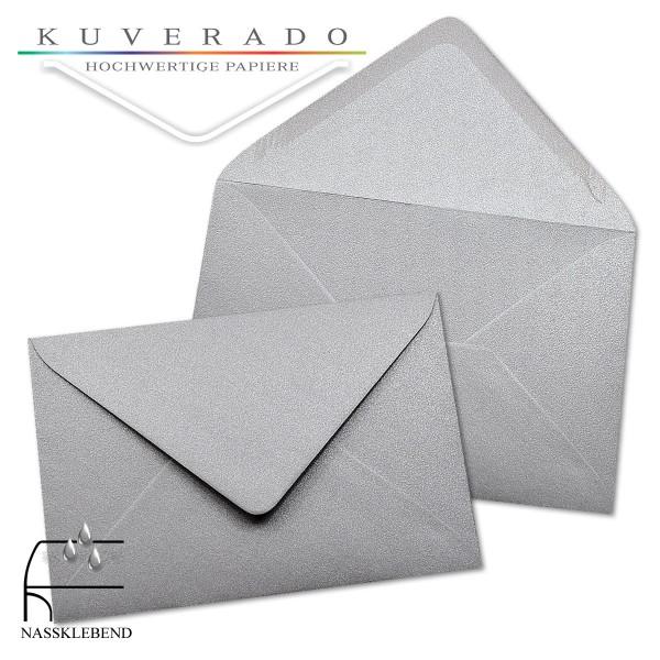 glänzende metallic Briefumschläge in silber im Format 120 x 180 mm
