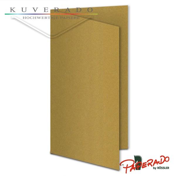 Paperado Karten in gold DIN lang
