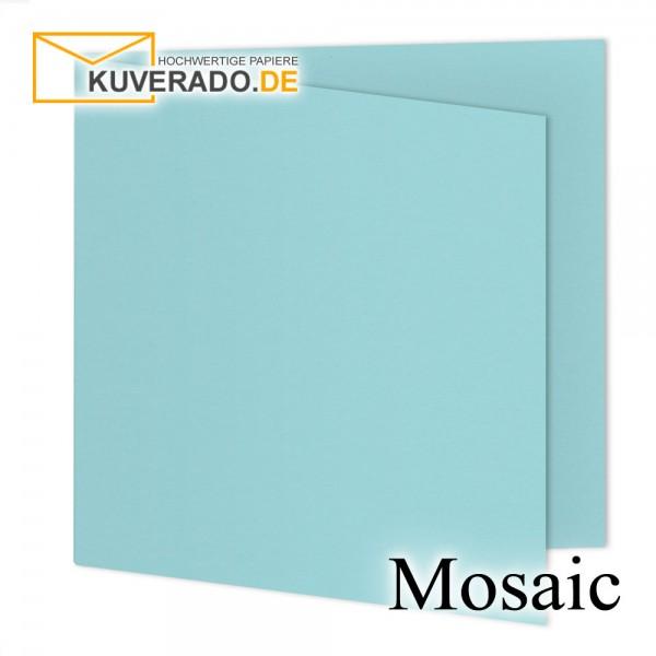 Artoz Mosaic hellblaue Doppelkarten quadratisch