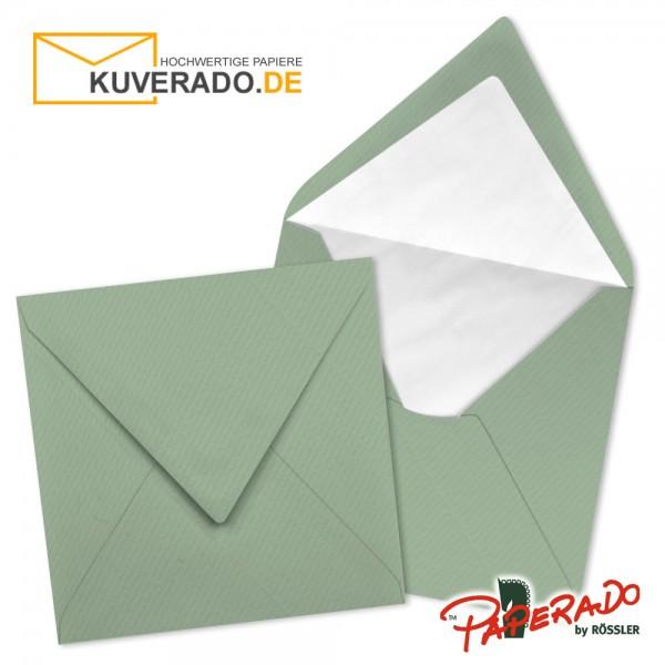Paperado quadratische Briefumschläge in eukalyptus 164x164 mm