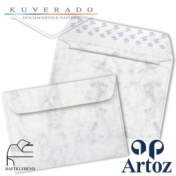 Artoz Antiqua marmorierte Briefumschläge grau DIN C6