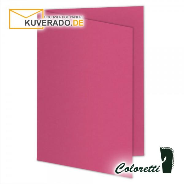 Rosa Doppelkarten in pink 220 g/qm von Coloretti