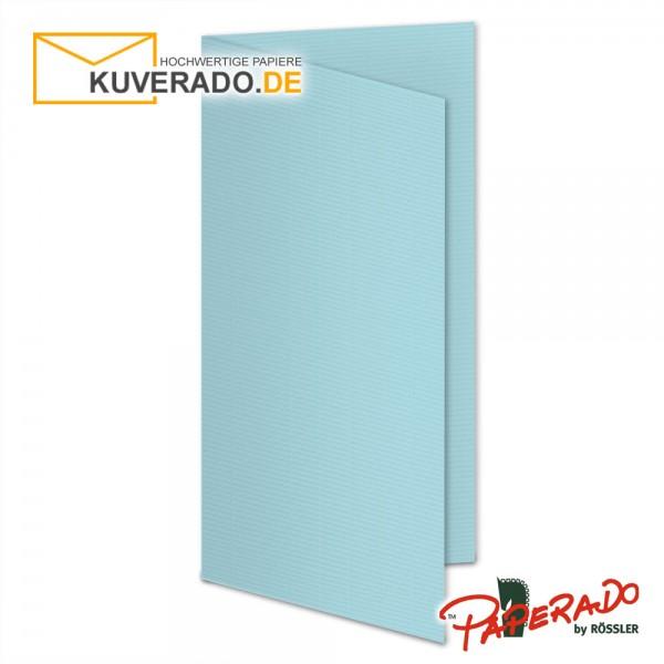 Paperado Karten in aqua blau DIN lang