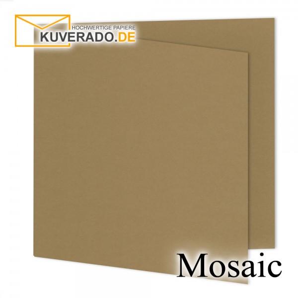 Artoz Mosaic naturbraune Doppelkarten quadratisch
