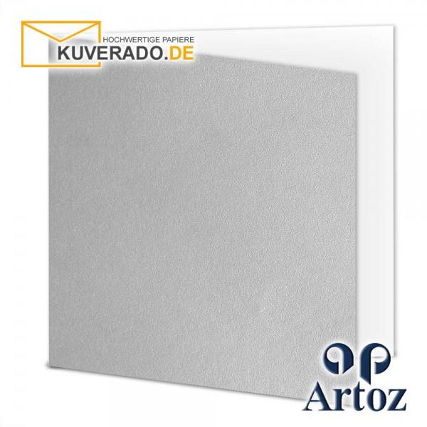 Artoz Mosaic metallic Faltkarten in silber quadratisch