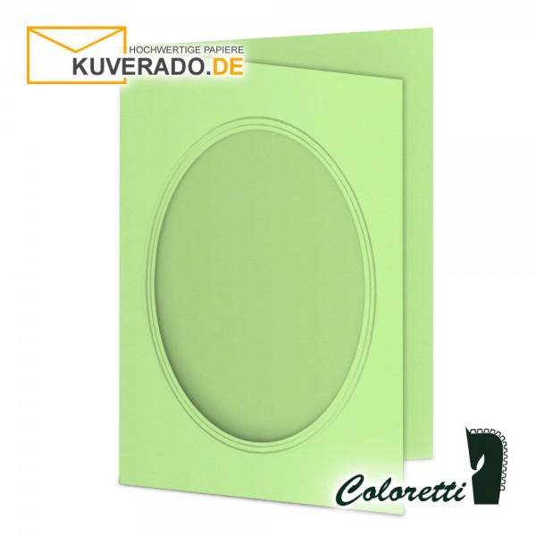 Grüne Passepartoutkarten in peppermint 220 g/qm von Coloretti