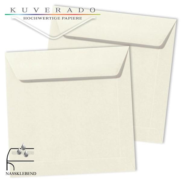 weiße Briefumschläge im Format quadratisch 170x170 mm
