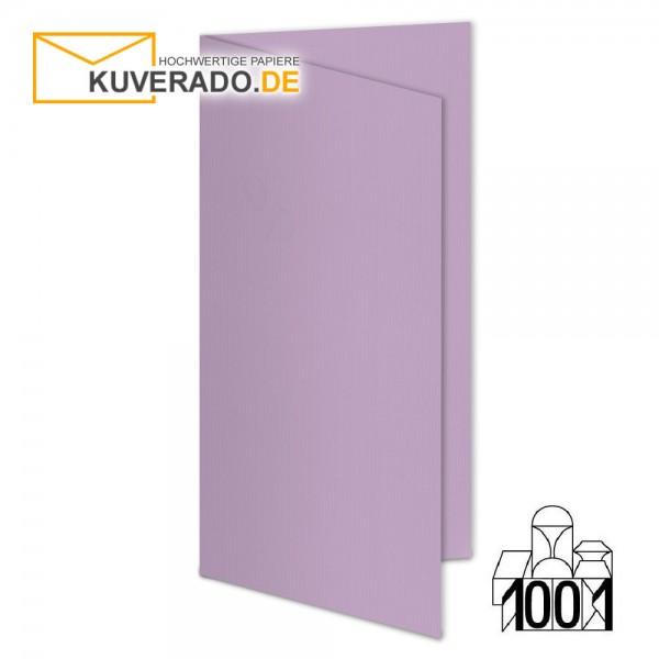 Artoz 1001 Faltkarten flieder DIN lang Hochformat mit Wasserzeichen