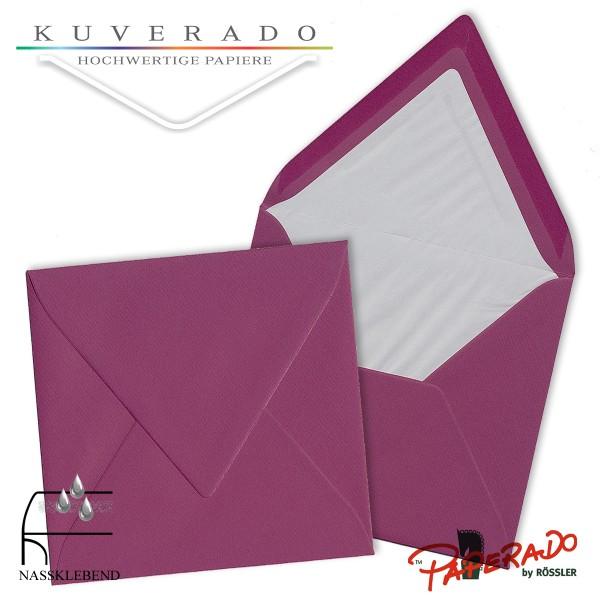Paperado quadratische Briefumschläge in cassis lila 164x164 mm