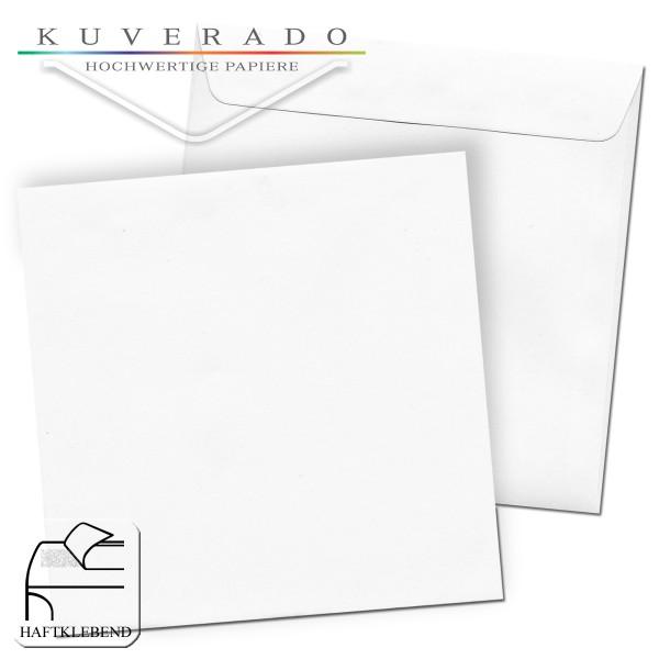 quadratische Briefumschläge 162x162 mm in weiß