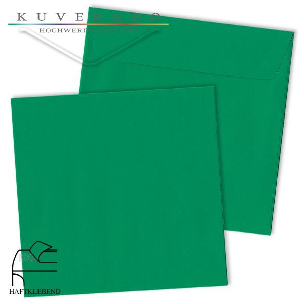 grüne Briefumschläge quadratisch