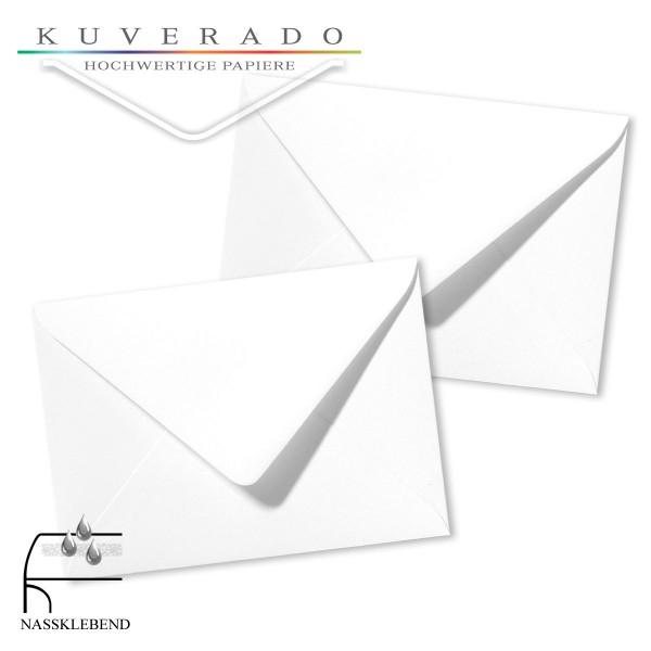 weiße Briefumschläge im Format 110 x 156 mm genarbt