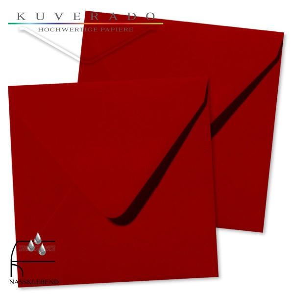 rote Briefumschläge im Format quadratisch 160x160 mm