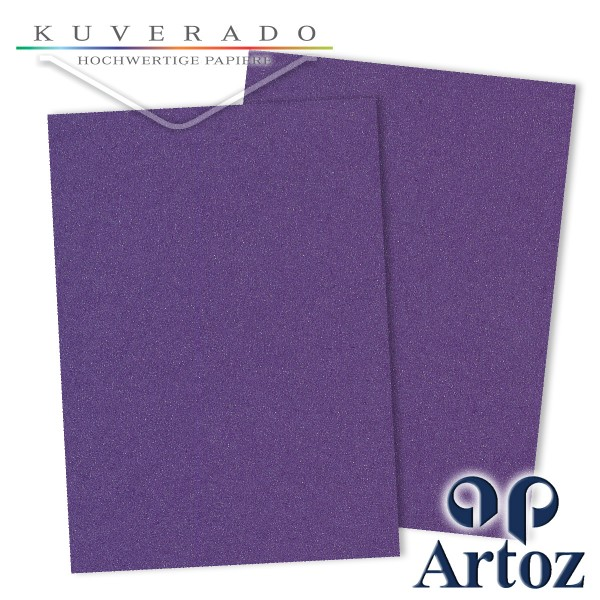 Artoz Klondike Briefpapier in amethyst-metallic DIN A4