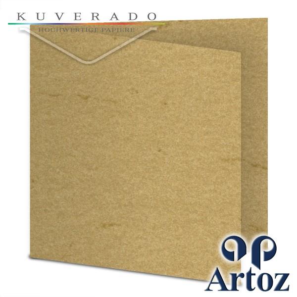 Artoz Rustik marmorierte Karten chamois quadratisch