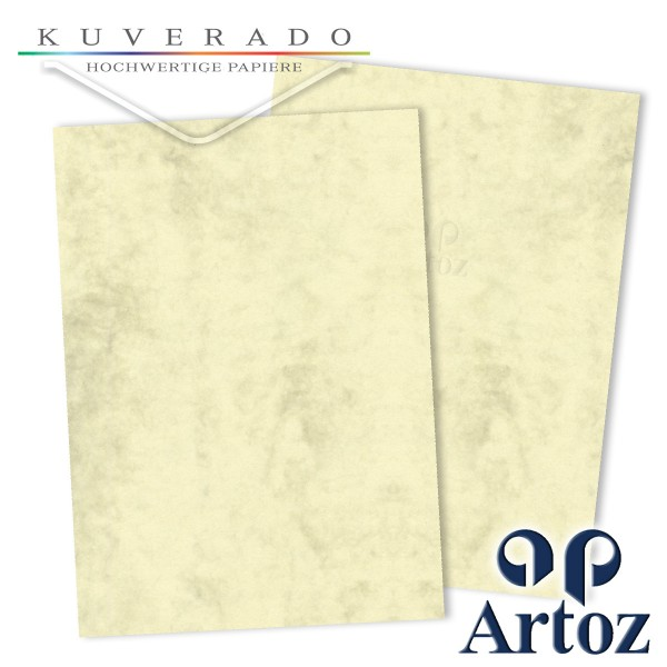 Artoz Antiqua marmorierte Karten chamois DIN A6