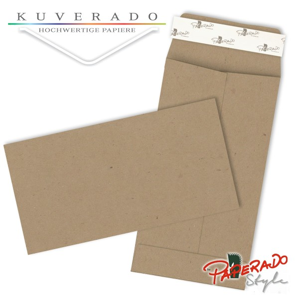 Paperado Style Briefumschläge Kraftpapier braun 114x224 mm