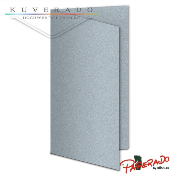 Paperado Karten in silber DIN lang