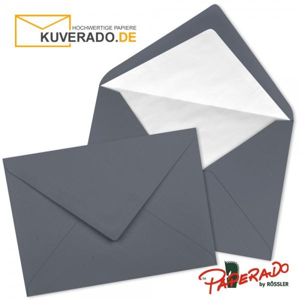 Paperado Briefumschläge in schiefer grau DIN C6