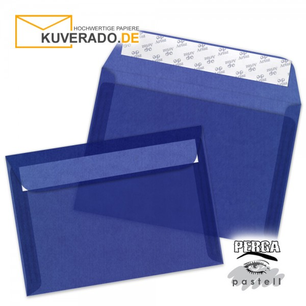 Artoz transparente Briefumschläge blau DIN C6