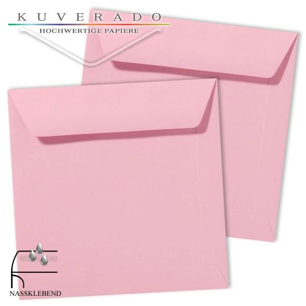 Rosa Briefumschläge (dunkelrosa) im Format quadratisch 220x220 mm
