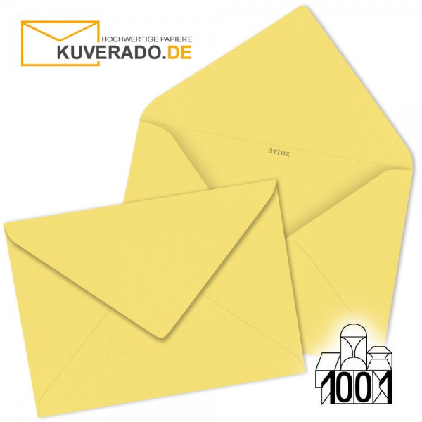 Artoz 1001 Briefumschläge lichtgelb 135x191 mm