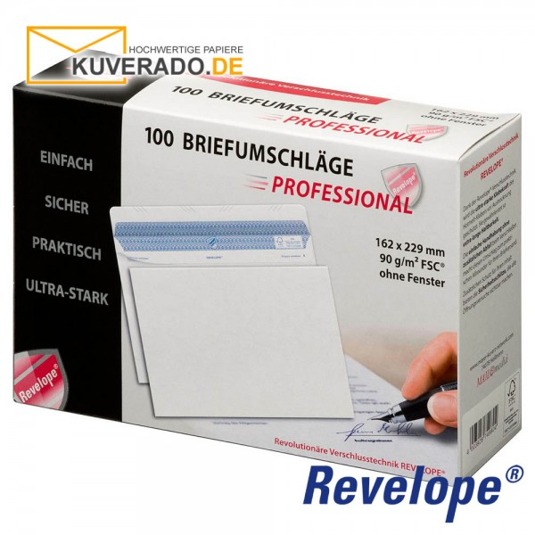 Revelope® DIN C5 Briefumschläge haftklebend 90g/qm | 500 Stück