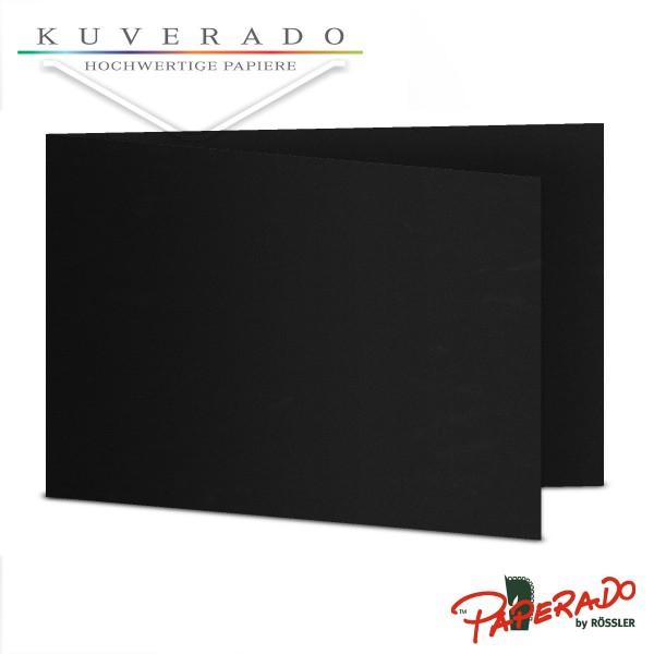 Paperado Karten in schwarz DIN B6 Querformat