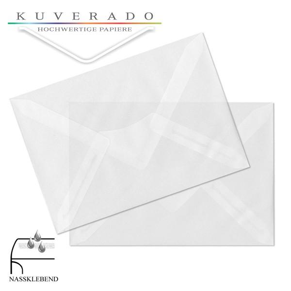 transparente Briefumschläge DIN C6 in hochweiß