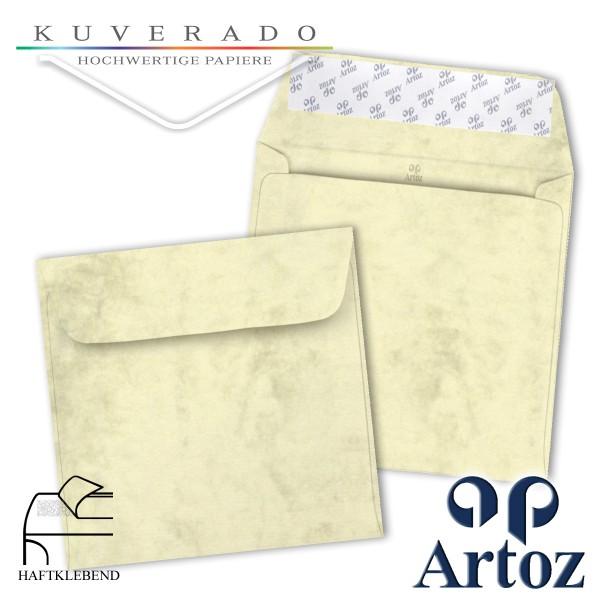 Artoz Antiqua marmorierte Briefumschläge chamois quadratisch