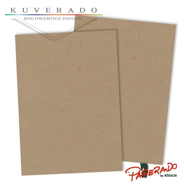 Paperado Briefpapier in kraftpapier-braun DIN A4 120 g/qm
