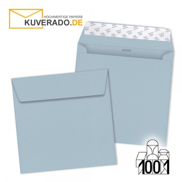 Artoz 1001 Briefumschläge pastellblau quadratisch 160x160 mm